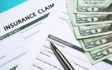 insurance claim forms and cash