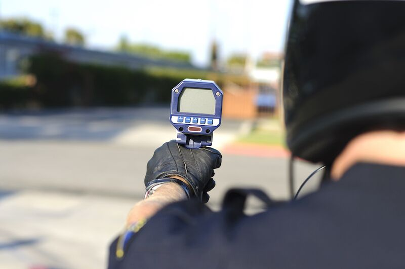 police with speed gun